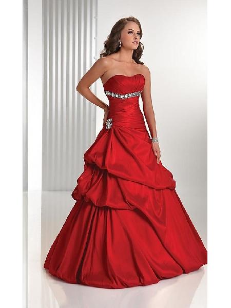 42e33e60329a plesové šaty červené na maturitní ples 2012 - plesové šaty